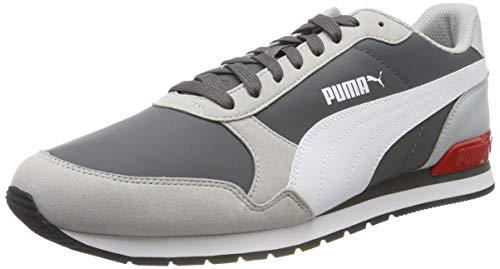 PUMA ST Runner v2 NL Zapatillas Unisex Adulto,Gris ( CASTLEROCK-High Rise-Puma White-High Risk Red ) , 42 EU