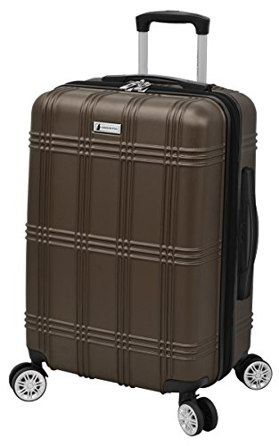 London Fog Kingsbury 21' Expandable Hardside Spinner Carry-on, Coffee