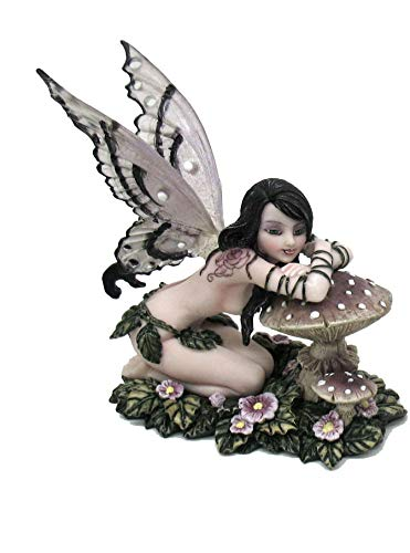 Féeries et merveilles Statuette FEE DE LA Foret sur Champignon (HT 13 cm), Fairy