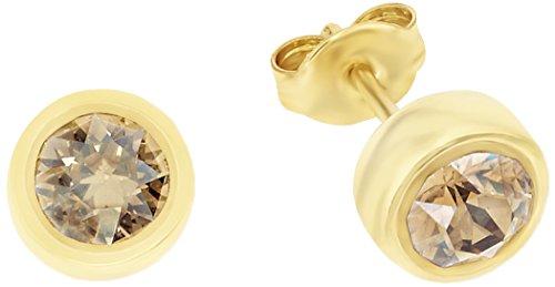 Noelani Damen-Ohrstecker Swarovski Elements Kristall vergoldet - 9100620