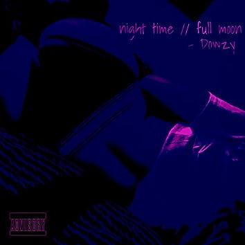 night time // full moon