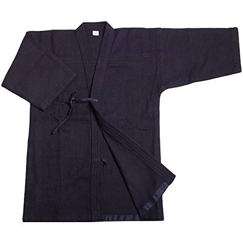 G-like Kendo Kenjutsu Uniform - Traditionelle Japanische Schwertkampfkunst Kostüm Karate Ninja Aikido Training Kleidung Keikogi Jacke Hakama Hose für Männer Frauen (Blau, XXL)