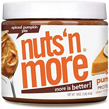 Nuts N More Spiced Pumpkin Pie Peanut Butter Spread All Natural High Protein Nut Butter Healthy product image