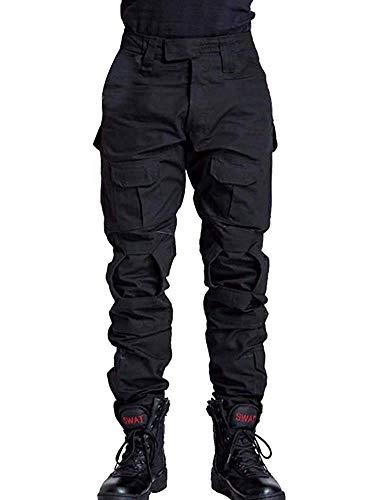 TRGPSG Pantalones de Carga tácticos para Hombre, Pantalones de Combate tácticos Informales de Combate, Pantalones para Acampar Militar, Pantalones de Senderismo