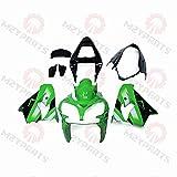 MZYPARTS Motorcycle Fairings For 02 03 Kawasaki ZX9R 2002 2003 Compression Model Body Kits - Green Black