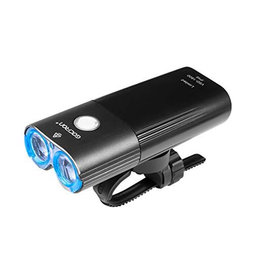 Abcidubxc Luz delantera para bicicleta, impermeable, carga USB, 1800 lm, para bicicleta
