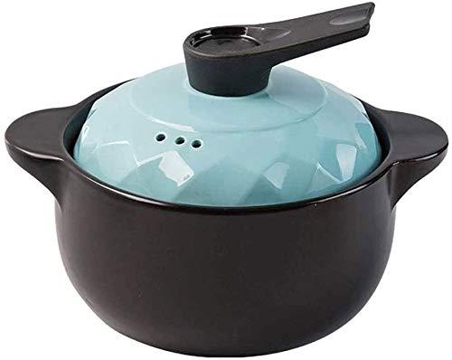 WANGQW Non-Stick-Keramik-Kasserolle-Topf, Stockpot für Ei Terrakotta Kasserolle Topf Keramik Auflauf - Sogar Heizung Wärmespeicherung und Energieeinsparung gesund (Color : Capacity 4l)