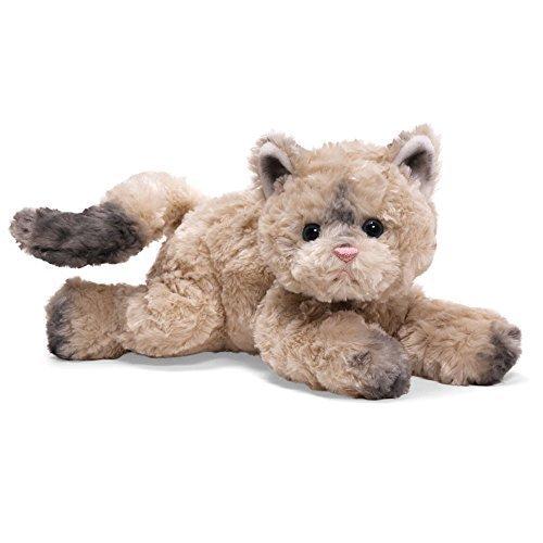 Katze Bootsie, 32 cm, hell, grau oder beige-gestreift