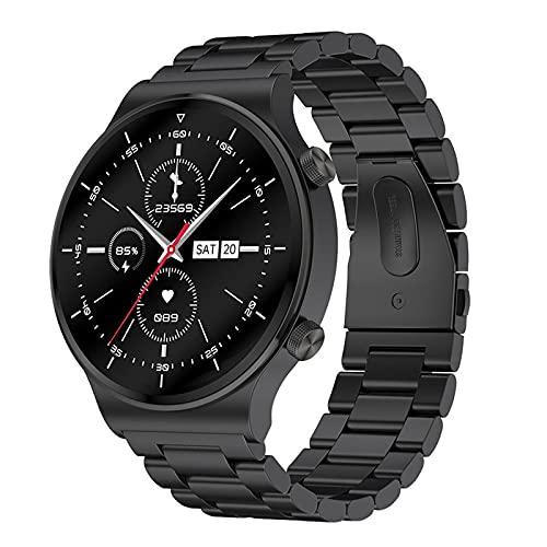 Rvlaugoaa Bluetooth Smart Watch 1.3 Pulgadas Full Touch Pulsera Inteligente Podómetro Salud Fitness Tracker Pulsera Deportiva IP68 Reloj Inteligente A Prueba De Agua para Teléfonos Android iOS,D