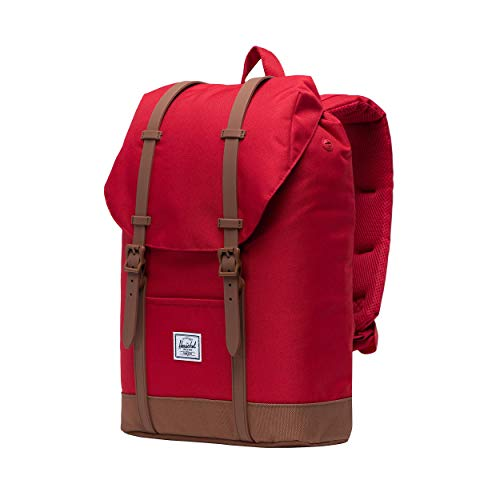Herschel Unisex-Erwachsene Retreat Mid-volume Multipurpose Backpack, Rot/Sattel braun