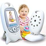 SmartBaby Babyphone Bébé Moniteur vidéo,2' LCD Couleur Ecoute-Bébé Caméra Motorola,Vision Nocturne,2.4 GHz Phone Numérique Bidirectionnel sans Fil,Température Surverillance (babyphone)
