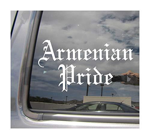 Lplpol Orgullo Armenio Antiguo Inglés Armenia Coche Camión Casco Portátil Surfboard Monopatín Auto Automotriz Artesanía Laptop Vinilo Adhesivo de Pared para Ventana de la Tienda de la Ventana de 6 pulgadas