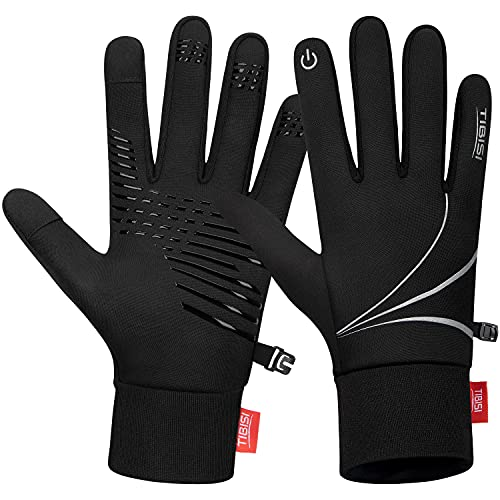 MIBEI Touchscreen Warme Handschuhe Herren Damen Fahrradhandschuhe Thermo Winter Handschuhe Winddicht Laufhandschuhe Bergsteigen Jogging Camping Wandern