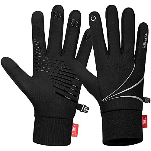 Touchscreen Warme Handschuhe Herren Damen Fahrradhandschuhe Thermo Winter Handschuhe Winddicht Laufhandschuhe Bergsteigen Jogging Camping Wandern