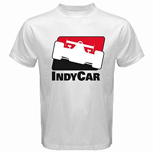 IndyCar Indy Racing League Indianapolis Men's White T-Shirt Size S to 3XL