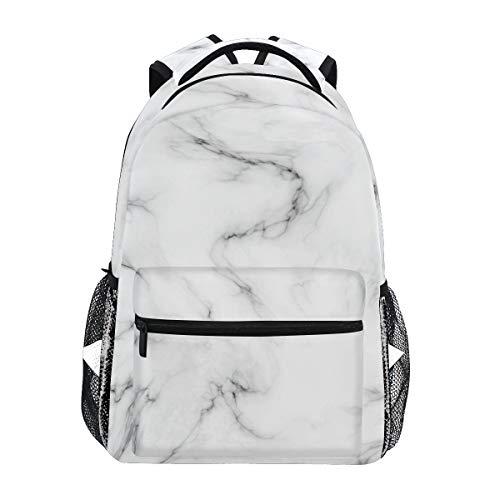 DXG1 - Mochila de mármol blanco para mujer, hombre, adolescente y niña, para la escuela, bolsa de libros, suministros casuales