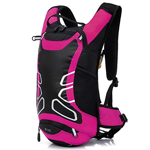 Generic Brands 12L Bicycle Hydration Backpack Outdoor Sports Night Reflective Backpack with 1.8L Bladder Water Bag