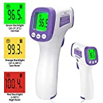 XDX Digital Infrared Thermometer for Adults, Non Contact Touch with LCD Display Color Screen, Temperature Reading for Forehead and Surfaces for Baby Adult School Office Medical