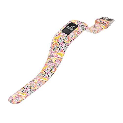 YANODA Coloré Imprimé Wristband Bande De Remplacement du Poignet en Silicone for Garmin Vivofit 3 Bracelet Tracker avec Boucle De Sécurité Sport Adjustable (Color : Style7)