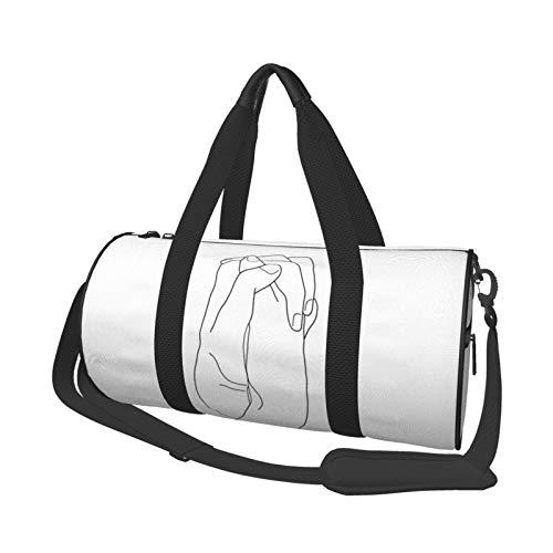 ジムスポーツバッグ、軽量飲用スポーツダッフルバッグキャンバスショルダーバッグ 私を離さないで 大容量スポーツトラベルダッフル多機能バレルバッグジムフィットネスホールドオール