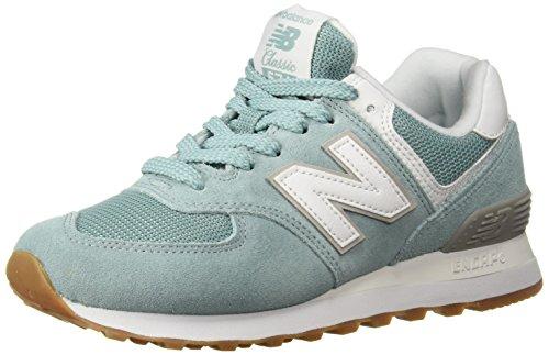New Balance Damen Sneaker,WL574EN, Blau (Navy/White Melange), 37.5 EU