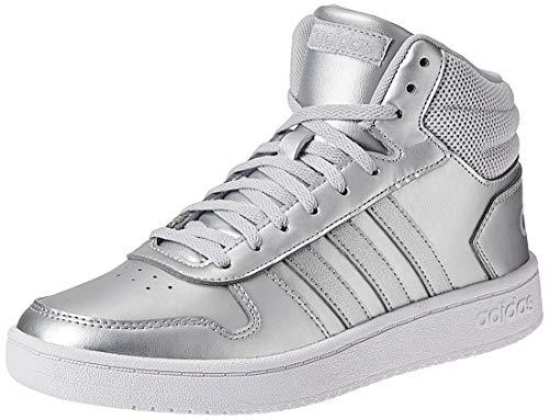 Adidas Hoops Mid 2.0 K EE7857 Argento Scarpe Donna Bambini Sneakers Ginnastica (37 1/3, Multicolore)