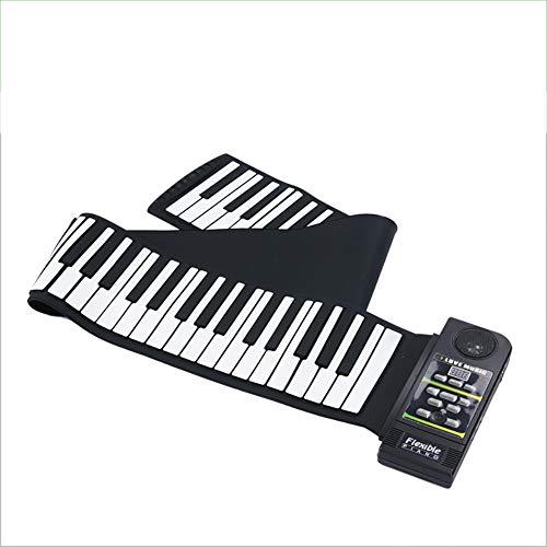 THDFV Los Principiantes practican Hand Roll Piano, el Teclado se Puede Llevar fácilmente a Cualquier Parte, Material de Silicona, Muchos Estilos Diferentes de Sonido, el Precio es asequible