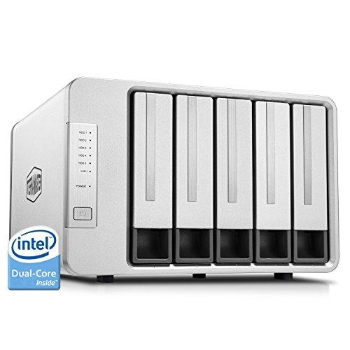 TERRAMASTER F5-221 NAS 5Bay Cloud Speicher Intel Dual-Core 2,0GHz Plex Media Server Netzwerkspeicher RAID (Ohne Festplatte)