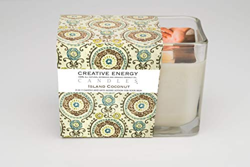 Creative Energy Candle - 2-in-1 Soy Lotion Candle (Island Coconut)