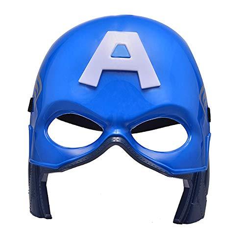 morningsilkwig Maschera di Halloween Supereroe Avengers Capitan America Maschere Costumi Maschere per Bambini