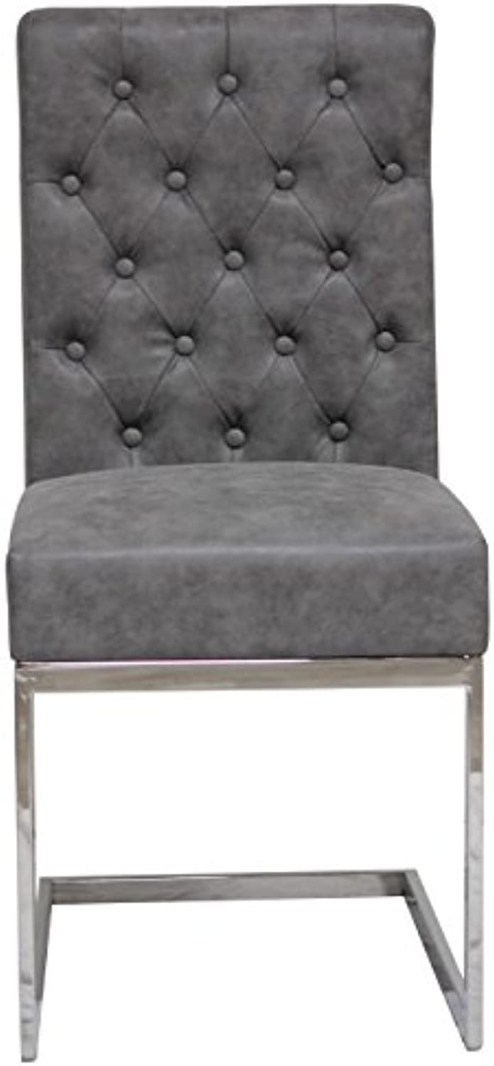 Meubles House DC-6171C Villa Modern Tufted Dining Chair, Nobility Grey