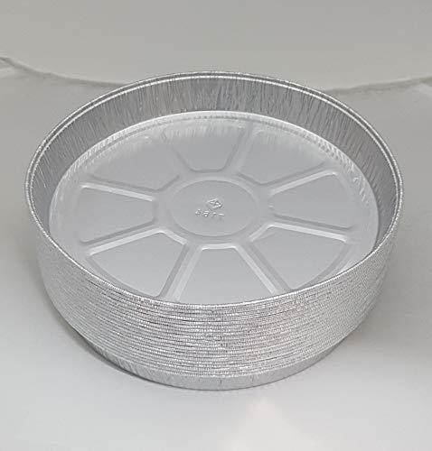 20 x Piatti rotondi in alluminio per quiche, flan, cheesecake, diametro di 21 cm.