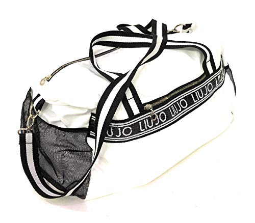 Liu jo Liu-Jo sporttas van nylon met logo-band, meshzakken, ritssluiting en bijpassende schouderriem. Afmetingen: 48 x 18 x 30 cm.