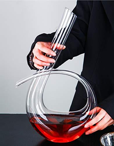 WYK, decanter per vino in cristallo, in stile italiano, senza piombo, per matrimoni, anniversari, Natale, 1240 ml