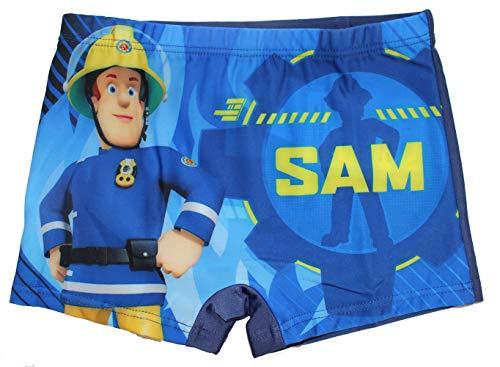 Feuerwehrmann Sam Jungen Badeshort Badehose (128, Dunkelblau)