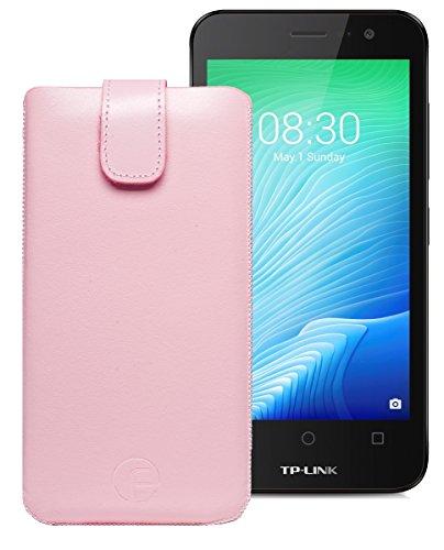 Original Favory Etui Tasche für TP-LINK Neffos Y50 | Leder Etui Handytasche Ledertasche Schutzhülle Hülle Hülle Lasche mit Rückzugfunktion* in rosa