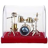 Musikinstrument-Trommel-Satz-Modell, schöne Dekoration für Ihren Hauptschreibtisch und Bürotisch, großes Geschenk Freunden oder zur Familie, Anzeigen-Miniverzierungs-Handwerks-Inneneinrichtunge(14cm) -