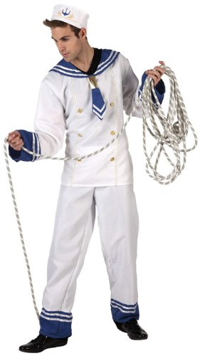 Atosa - 6001 - Costume - Déguisement Homme Marin Blanc - Taille 3