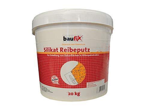 Baufix Edel Reibeputz Elegant Weiß 20 kg mm Wählbar, Korngröße:3 mm