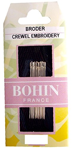 Bohin Crewel Embroidery Needles, Size 7, 15 Per Package