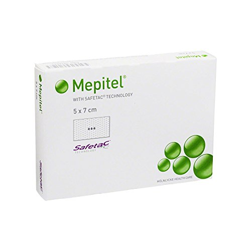 Mepitel Silikon Netzverband 5x7 cm Steril, 5 St