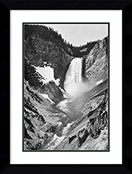 Framed Wall Art Print Yellowstone Falls Yellowstone National Park Wyoming ca 1941 1942 by Ansel Adams 21.62 x 28.62 in.