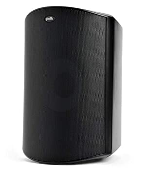 Polk Audio Atrium 8 SDI Flagship Outdoor All-Weather Speaker  Black  - Use as Single Unit or Stereo Pair   Powerful Bass & Broad Sound Coverage