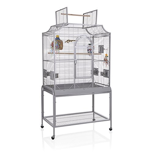 Montana Cages ® | Sittichkäfig, Käfig, Voliere, Vogelkäfig Madeira III - Platinum mit Anflugklappe