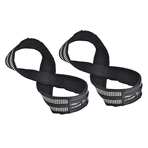 Aosiyp Wrist Strap, 1 Pair Figure 8 Weight Lifting Straps Dead Lift Wrist Strap for Pull-ups Horizontal Bar Powerlifting Gym Fitness Bodybuilding Equipment (S)