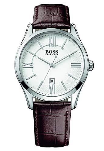 Hugo BOSS Reloj con mecanismo de cuarzo para hombre 1513021, diseño clásico y correa de piel
