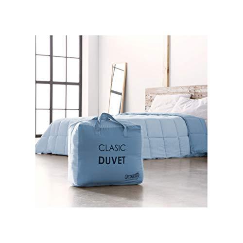 Barceló Hogar 07050040211 Relleno nórdico bicolor, modelo Clasic-Duvet, azul, 150 x 220 (90 cm)