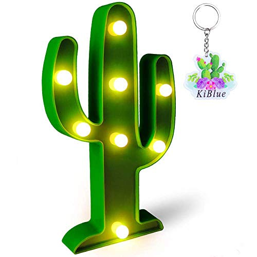 KiBlue Cactus Decor Cactus Light Cactus Party Decoration Gift Party Cute Cactus Table Lamp Battery Operated for Desk,Bedroom,Wall Decoration,Baby Shower,Kids Room,Living Room,Home Decorations