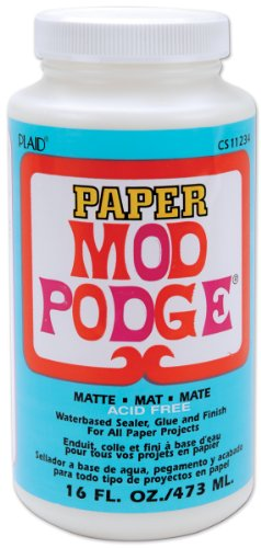 Mod Podge 16oz Matt Papier, Synthetisches Material, Weiss, 15.2 x 6.9 x 6.9 cm