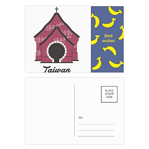 Taiwan Sun Moon Lake Travel Banaan Postkaart Set Thanks Card Mailing Zijde 20 stks